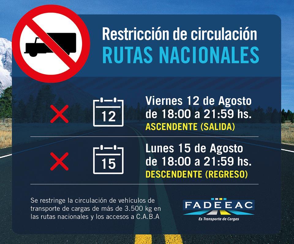 restricciones agosto 2016